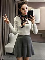 знак новой зимней моды корейский лук кружева вокруг шеи свитер пуловер рубашки женский прилив