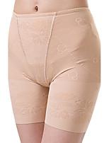 Women's Maternity Postpartum Slimming Corset Body Shaper Jacquard Shaping Panties High Waist Elasticity Nylon Medium Beige/Black