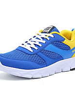 Sneakers Spring Summer Fall Comfort Light Soles Tulle Leatherette Outdoor Athletic Casual Flat Heel Lace-up Black Blue Gray Walking