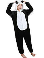 Kigurumi Pajamas Panda Leotard/Onesie Festival/Holiday Animal Sleepwear Halloween White Flannel Cosplay Costumes For Unisex Female Male