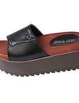 Sandals Spring Comfort PU Outdoor Flat Heel Black White