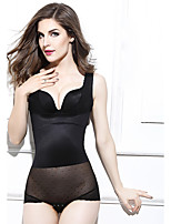 Slimming Corset Shaping Panties Elasticity Sexy Solid-Thin Nylon Beige Black Women's Maternity Postpartum
