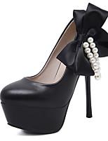 Habillé-Noir Blanc-Talon Aiguille-club de Chaussures-Chaussures à Talons-Polyuréthane
