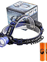 U'King® ZQ-X837BL#4 CREE XML T6 Zoomable 180 Rotate 3Modes Headlamp Bike Light Kits with Rear Safety LED