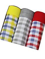 Men's Fashion Sexy Plaid Print Boxers Underwear Cotton Modal Panties