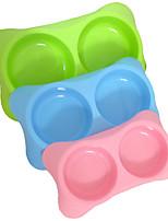 Chat Chien Bols & Bouteilles d'eau Mangeoires Animaux de Compagnie Bols & alimentation Portable Rouge Vert Bleu