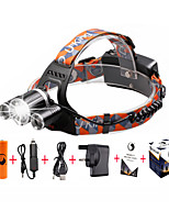 U'King ZQ-X819#-UK CREE XM-L T6/2*R5 Headlamp 5000LM LED 4 Mode for Camping Hiking Bike Outdoor UV light
