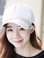 Unisex Cotton Lady Stitching Color Pin Clip Ribbon Outdoor Sun Shade Baseball Cap