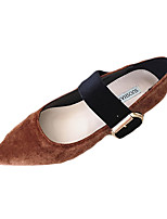Sandals Spring Comfort PU Casual Flat Heel Others Black Brown Red