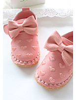 Baby Flats Spring Fall First Walkers Leatherette Outdoor Casual Low Heel Magic Tape White Pink Walking
