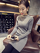 Korean diamond beaded collar hedging sweater bottoming Slim thin sweater and long sections