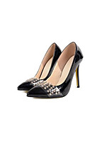 Heels Spring Summer Fall Comfort PU Office & Career Party & Evening Dress Stiletto Heel Rhinestone Black