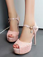 Белый Розовый-Для женщин-Для праздника-Полиуретан-На шпилькеОбувь на каблуках