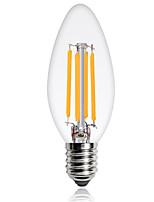 E14 Lâmpadas de Filamento de LED C35 4 COB 360 lm Branco Quente Branco Frio Decorativa AC 220-240 V 1 pç