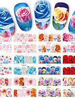 1pcs 12design Autocollant d'art de clou Autocollants de transfert de l'eau Maquillage cosmétique Nail Art Design