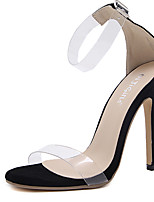 Sandals Summer Transparent Shoe Rubber Dress Stiletto Heel Buckle