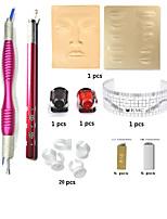 Microblading Permanent Makeup Eyebrow Tattoo Needle Pen Ink Practice Skin Kit BasekeyAC1