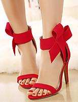 sandales chaussures de club d'été robe de molleton talon aiguille bowknot