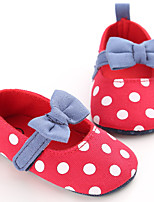Baby Flats Spring Fall First Walkers Fabric Outdoor Casual Low Heel Magic Tape Red Blue Walking