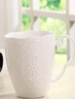 Minimalism Party Drinkware, 300 ml Simple Geometric Pattern Ceramic Coffee Milk Daily Drinkware
