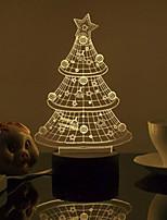 Smart 3D Desk Lamp Bluetooth 4.0 Speaker CHRISTMAS TREE STYLE  TRANSPARENT