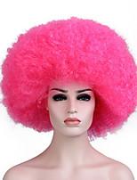 les femmes perruques cosplay rose perruques synthétiques bouclés de couleur pour les perruques de fête