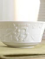 1 Pcs Ceramic Dining Bowl Dinnerware Blessing Bowl