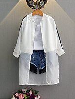 Girl's Casual/Daily Solid Suit & Blazer,Cotton Rayon Summer Spring Long Sleeve