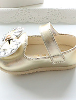 Baby Flats Spring Fall Comfort Patent Leather Outdoor Casual Flat Heel Rhinestone Magic Tape Gold Silver Pink Walking