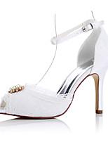 Белый-Для женщин-Свадьба Для праздника Для вечеринки / ужина-Тюль-На шпилькеОбувь на каблуках