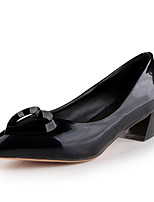 Heels Spring Summer Fall Winter Club Shoes PU Office & Career Dress Casual Chunky Heel Black