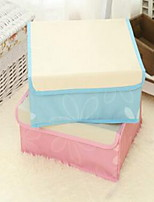 Storage Boxes Textile withFeature is Lidded  For Underwear Can Be Washed Oxford Cloth Random Pattern And Color