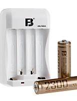 Гидрид FB FB-15 AA никель-металл перезаряжаемые щелочные батареи 1.2v 2300mAh 2 шт