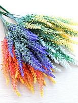 1 Rama Plástico Lavanda Flor de Mesa Flores Artificiales 10*10*35