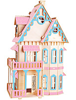 Jigsaw Puzzles DIY KIT Building Blocks 3D Puzzles Educational  Color Gothic Big House Wooden Building Blocks DIY Toys Famous Buildings