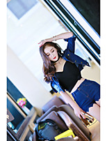 Sign new fashion short paragraph small coat sexy shorts two-piece suit