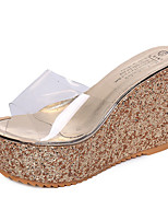 Heels Summer Creepers Rubber Casual Sequin Pink Silver Gold Walking