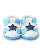 Baby Sandals Summer First Walkers PU Casual Flat Heel Split Joint White/Blue