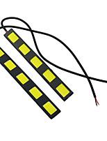 1 Pair Car Styling Waterproof COB Chip LED DRL Daytime Running Lights White DC12V Fog Driving Head lamp