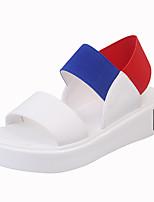 Sandals Summer Comfort PU Casual Flat Heel Gore Black Blue Rose Pink