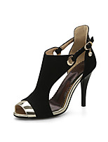 Women's Sandals Spring Summer Fall Comfort Gladiator Club Shoes Fleece Wedding Casual Party & Evening Stiletto Heel Buckle Split Joint
