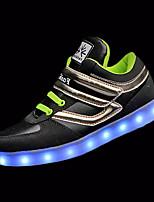 Черный Красный Серый Тёмно-синийДля прогулок-Полиуретан-На плоской подошве-Удобная обувь Light Up обувь-Кеды