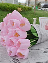 1 Branch Plastic Tulips Tabletop Flower Artificial Flowers 4*4*61