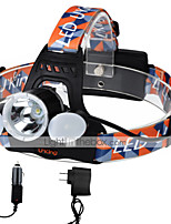 UKing ZQ-X851B-US CREE XML T6 /2*LED Headlamp 4 Mode 6000ML Lumens for Camping/Hiking/Caving Everyday Use Cycling