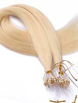 Best 10A Grade #613 Color Hair Bleach Blonde Micro Loop Ring Beads Hair Extensions Silky Straight 100grams Brazilian Virgin Human Hair Braids