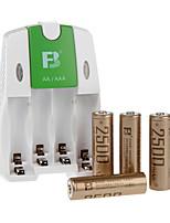 Гидрид FB fb18 Аа Никель-металл аккумуляторная батарея 1.2V 2500mah 4 шт
