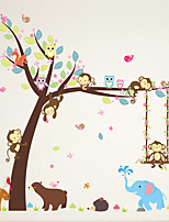 Wall Stickers Wall Decals Style Monkey Swing PVC Wall Stickers