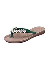 Sandals Spring Summer Fall Comfort Fabric Dress Casual Flat Heel Multi-color