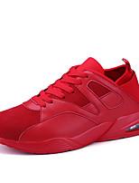 Черный Красный Черно-белый-Для мужчин-Для прогулок Повседневный Для занятий спортом-Полиуретан-На плоской подошве-Туфли Мери-Джейн-