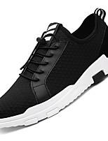 Черный Красный Синий-Для мужчин-Для прогулок Повседневный Для занятий спортом-Тюль-На плоской подошве-Удобная обувь-Кеды